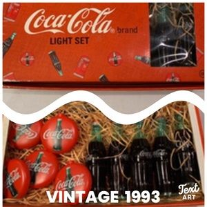 🎈Coke party light set in box 1993 New Old Stock